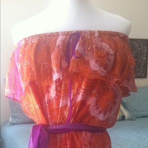 NWOT Miguelina Silk Chiffon Deanne Istanbul Dress